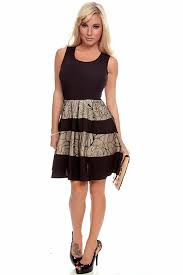 black gold 2 tone sleeveless floral mesh design peekaboo back