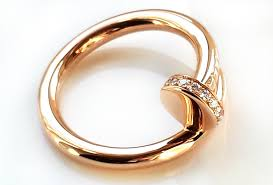 cartier rings images Cartier 18k rose pink gold diamond 39 juste un clou 39 ring size jpg