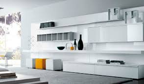 Open Wall Cabinets Furniture White Living Room Storage Unit Of Wall Bookshelf And
