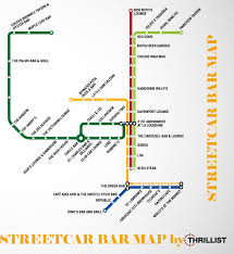 New Orleans Street Car Map by Take The Streetcar To The Bar Faubourg St Johnfaubourg St John