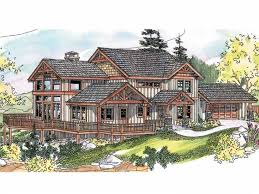 Craftman Style Home Plan Impressive Impressive Wraparound Porch Hwbdo66723 Craftsman From