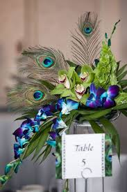 Peacock Decorations by 37 Trendy Purple Wedding Table Decorations