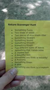 is this thing on nature scavenger hunts camping and activities