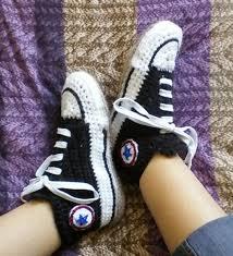 pattern crochet converse slippers converse style slipper socks crochet creation by vikthehook