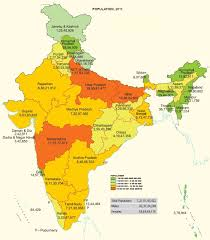 Population Density World Map by 3 Types Of Population Density Districts Of India
