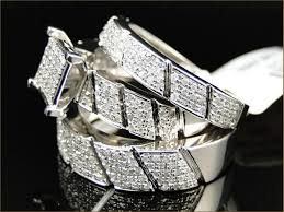 wedding ring sets his and hers cheap his and hers wedding ring sets women s halo design