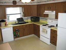 White Appliance Kitchen Ideas Traditional Kitchen Remodel With Give Away Yellow Formica