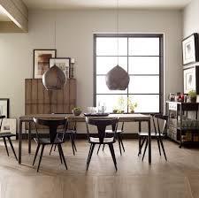 industrial dining room tables lorie driftwood oak iron dining room table zin home