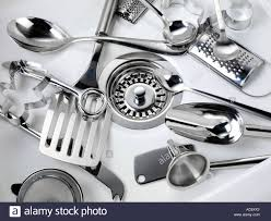 clean kitchen utensils in sink stock photo royalty free image