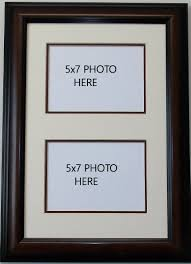 wall mount photo frames multimat holds two 2 5x7 photos
