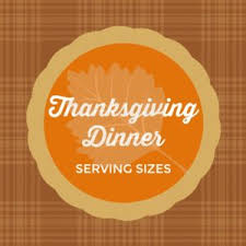 thanksgiving dinner serving sizes a reinvented