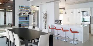 cuisine avec bar ouvert sur salon cuisine vue sur le salon miliboo