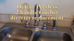 remove old kitchen faucet delta peerless 2 handle faucet diverter replacement rp41702