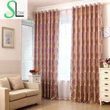 Silver Black Curtains Soul Wine Purple Gold Silver Black Silk Jacquard Curtains