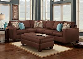 mix and match sofas turquoise is a great accent color to chocolate brown accent
