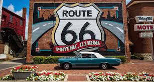 Route 66 Illinois Map by Sundae Fun Day Route 66 Illinois