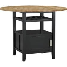 black high dining table crate and barrel