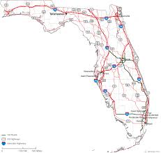 florida highway map map of florida counties with roads deboomfotografie