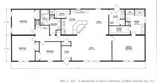 4 Bedroom 2 Bath House Plans Triple Wide Floor Plans Factory Select Mobile Homes Top 25 1000
