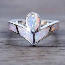 hippie wedding ring angel opal ring and