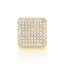 men stud earrings single 10k gold square men s diamond stud earring 0 6ct pave diamonds