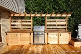 cuisine exterieure en cuisine extérieure avec comptoir en ipé patios en bois