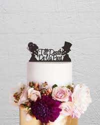 skull cake topper skull cake topper wedding cake topper till do us part cake