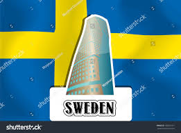 Sweedish Flag Sweden Swedish Flag Vector Illustration Stock Vektorgrafik