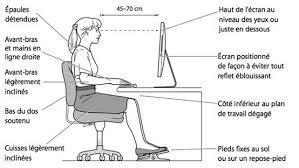 bonne position au bureau prévention de la douleur au cou avec une bonne ergonomie au bureau