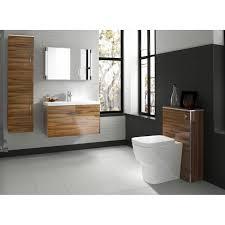 Hudson Reed Bathroom Furniture Hudson Reed Memoir Gloss Walnut Wall Hung 600mm Cabinet 40mm