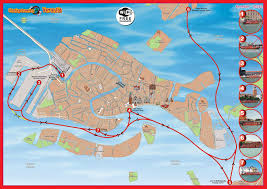 Map Italy Cities by Venice Sightseeing One Day Hop On Hop Off Boat Tours Italy
