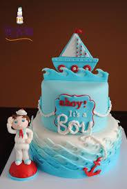 Baby Shower Boy Cakes A Nautical Baby Shower Cake Cake By Donna Tokazowski Cake