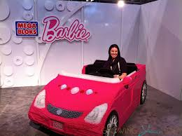 riding mega bloks barbie car toy fair 2013 growing