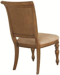 Woven Dining Room Chairs by Island Inspired Woven Back Dining Side Chair With Two Front Carved