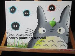 diy totoro painting tutorial diy room decor youtube