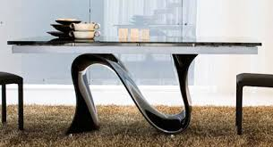 Dining Room Furniture Toronto Wave Finished Bent Glass Dining Table Furniture Toronto