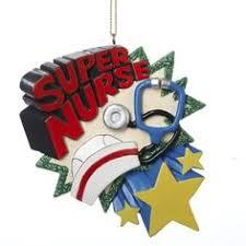 Nurse Christmas Ornament - personalized nurse christmas ornament bear nurse personalized