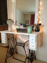 sewing machine table ideas convert the old sewing machine in dressing table home decor