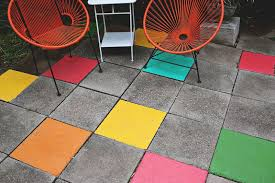 Painting Patio Pavers Elsie S Painted Patio Tiles A Beautiful Mess