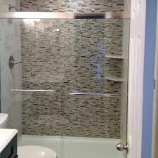 Bathroom Remodel Tile Shower J Glass Tile Shower Wall Co All About Bathrooms