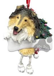 dangling leg collie ornament collie ornaments and