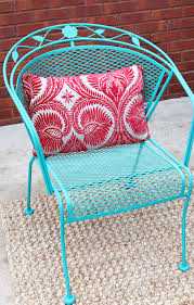 Rod Iron Patio Table And Chairs How To Paint Patio Furniture With Chalk Paint Annie Sloan