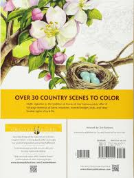 Country Living Magazine Phone Number by Amazon Com Creative Haven Country Scenes Coloring Book