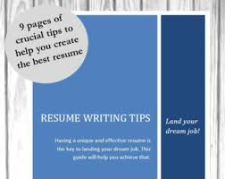 Create The Best Resume by Resume Writing Etsy