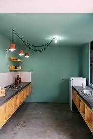 Concrete Kitchen Cabinets Kitchen Floor Polished Concrete Floor Green Cabinets Modern
