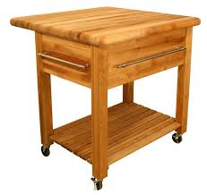 kitchen amazing kitchen utility cart butcher block stand wood