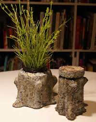 tree stump planters hypertufa pots and faux bois planters martha stewart