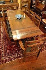 mission style dining room set mission oak dining table and chairs mission style oak dining table