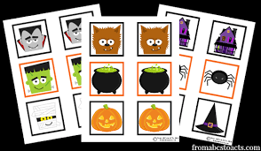 printable halloween pictures for preschoolers printable halloween memory game from abcs to acts