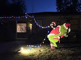 grinch stealing christmasghts pattern outdoor
